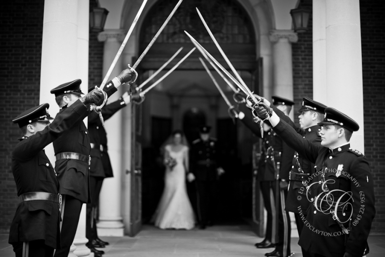 guard of honour military wedding photo
