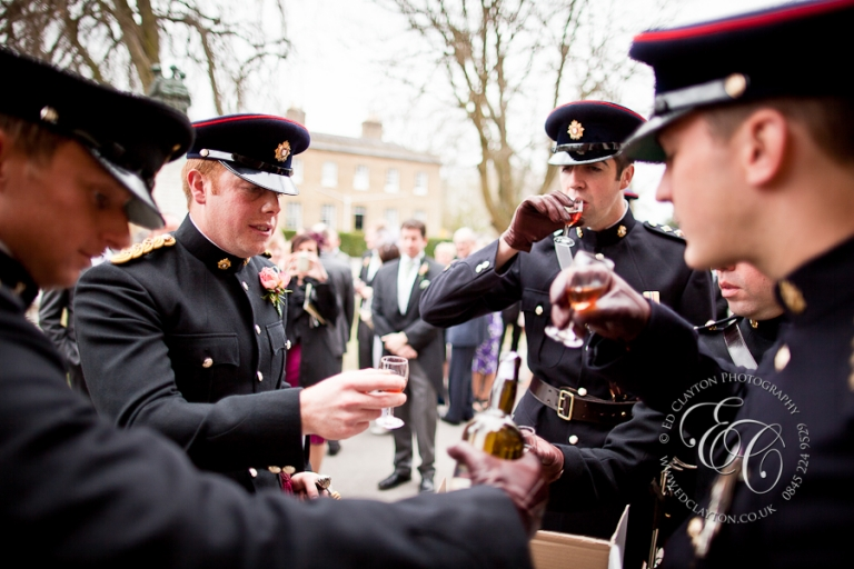 port toast after british army military wedding